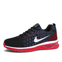Men's Air Cushion Casual Flyknit Atheletic Sneakers Running Breathable Shoes Jog