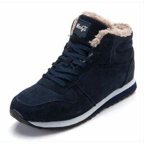 Men's Winter Shoes Fashion Snow Boots Shoes Plus Size Winter Sneaker Ankle Shoes