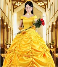 Adult Halloween Princess Belle Costume Beauty and The Beast Fancy Gloves Only