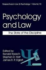 Psychology and Law: The State of the Discipline (Perspectives in Law & Psycholo