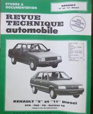 NEUF Revue technique RENAULT 9 11 diesel GTD TDE TD SOCIETE  CIP 3524 R R9 R11