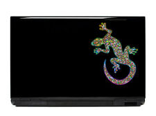 Ornate Gecko Vinyl Laptop or Automotive Art sticker decal computer auto lizard