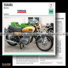 #089.19 YAMAHA 650 XS1 1969 Fiche Moto Motorcycle Card