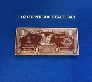 1 Black Eagle 1 oz in .999 Copper Bar