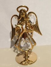 Gold Angel Holding A Star Table Top Display with Swarovski® Crystals