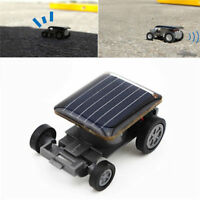 Black Mini Solar Powered Robot Racing Car Vehicle Educational Gadget Kids