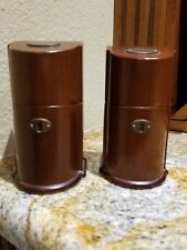 RARE VINTAGE EVANS WOOD BOX LIGHTER  AND WOOD BOX CIGARETTE/CIGAR HOLDER