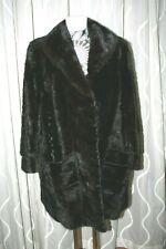 44 sehr schicke  dunkle echt  Nerz Pelz Damen Jacke - Mink Fur  Jacket