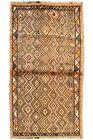 Vintage Tribal Oriental Qashqai Rug, 3'x6', Brown, Hand-Knotted Wool Pile