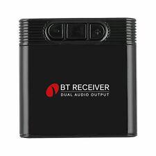 Receptor Inalámbrico Bluetooth Doble Salida 3.5MM Adaptador De Alta Fidelidad Audio Música estéreo Reino Unido