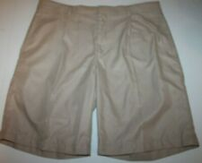 "Men's Walter Hagen Flat Front Golf Shorts Khaki/Beige Solid Color Size 38"" EUC!"
