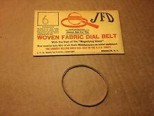 NOS Antique JFD Fabric Radio Dial Belt Number 6 GUARANTEED
