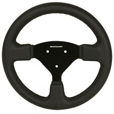 Motamec Formula Race Steering Wheel Small Flat 270mm Black Leather Black Spoke