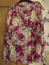 Pretty Peacocks Pink Floral Blouse Shirt Size 16
