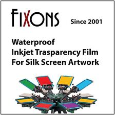 "Waterproof Inkjet Transparency Film 8.5"" x 14"" - 500 Sheets"