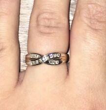 H Samuel 9ct Yellow Gold & Diamond Wedding Ring Total Diamond size O