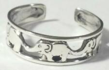 Elephant Toe Ring Adjustable 925 Sterling Silver Elephants are for Good Luck