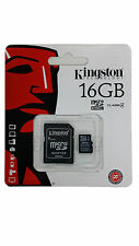MEMORY CARD KINGSTON 16GB MICRO SD SDHC FOR MOBILE PHONE AND CAMERA CLASS 4
