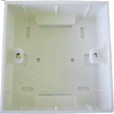 Single  RJ45 two module Back Plate Wall Mount box for Single Faceplate or switch