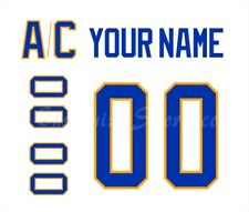 Buffalo Sabres Customized Number Kit for 2020-Present Away Jersey