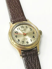 Seiko Original Vintage Gold-Tone Case 17 Jewels Gold Dial Stainless Steel Watch