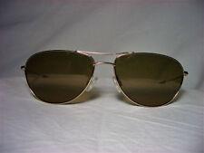 Maui Jim Japan 22kt gold plated Titanium Aviator oval men's women's sunglasses