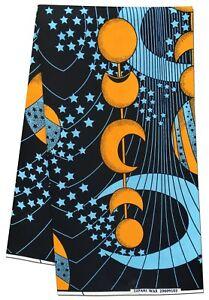 African Fabric Black BG Galaxy Wax Print Sewing Quilts Crafting Per Yard