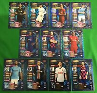 MATCH ATTAX 2019/20 FULL HUNDRED 100 CLUB SET Inc MESSI and MBAPPE (11 CARDS)