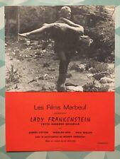 LADY FRANKENSTEIN avec Joseph COTTEN Rosalba NERI Paul MULLER - Synopsis