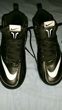 Nike Speed Strike Black/ White Football Cleats Shoes Mens Size 6 *w/o  spikes