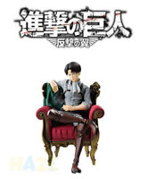Attack on Titan Levi Rivaille Rival Ackerman Sofa PVC Action Figure Toy 15cm