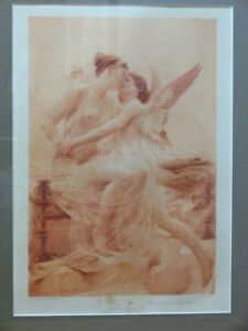 CUPID AND PSYCHE BY LIONEL NOEL ROYER Photogravure Goupil & Co D. Appleton & Co