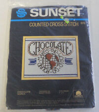 Vintage Sunset Counted Cross-Stitch Kit 976 - Chocolate World Factory Sealed