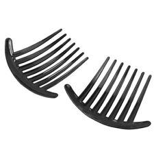 2x Black Plastic Side Clip Hair Comb Women Girls Slide Headwear Accessory