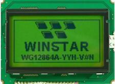 LCD Graphic Display Module, 128x64, Yellow / Green - WINSTAR WG12864A-NYG-VN