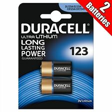 2 Duracell Ultra Lithium CR123 3V Camera Photo Battery CR123A EL123 CR17345