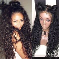ATOZ Curly Human Hair Lace Front Wig Brazilian Remy Full Lace Wig with Baby Hair