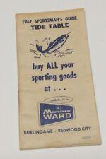 1967 Montgomery Ward Sportsman's Guide Tide Table San Francisco District