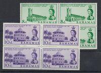 Bahamas QEII 1961 8d/10d Nassau Centenary Blocks Of 4 MNH J6379
