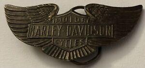 Harley davidson belt buckle vintage Brass