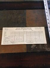 1985 Tony Sills signed scorecard official golf Bank Boston Classic Pro-Am auto