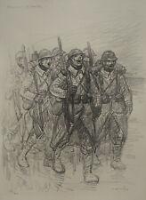 """STEINLEN (1859/1923) Litho WW1 - """" CHANSON DE ROUTE  """"  - Signé"""