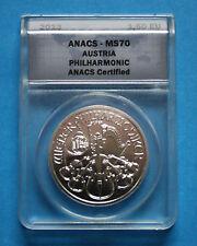 2013 AUSTRIA 1oz. Silver Philharmonic - ANACS MS70