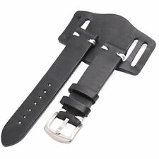 20mm Black Calf Leather Pad Watch Belt For DAYTONA SUBMARINER OYSTER DATEJUST