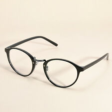 Unisex Vintage Clear Lens Eyeglasses Frame Retro Round Women Men Nerd Glasses