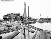 "1905 Dead River Saw Mill, Marquette, Michigan Vintage Photo 8.5"" x 11""  Reprint"