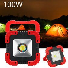 100W Rechargeable Portable Solar LED COB Work Light Camping Emergency Floodlight