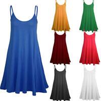 Womens Solid Sleeveless Camisole Casual Mini Dress