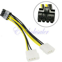 Cable Adaptador De Alimentación Doble Molex LP4 4 Pin a 8 Pin PCI-E Express  BC