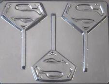 Superman Emblem Chocolate Lollipop Candy Mold 101 NEW